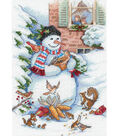 Dimensions 5\u0022x7\u0022 Counted Cross Stitch-Snowman&Friends