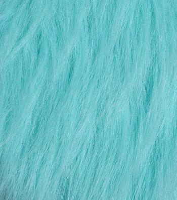 Fashion Faux Fur Fabric -Teal