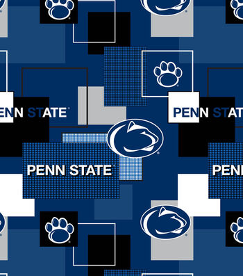Penn State University Nittany Lions Cotton Fabric -Modern Block
