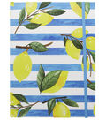 Park Lane 7.5\u0027\u0027x10\u0027\u0027 Journal-Lemons on Blue Stripes