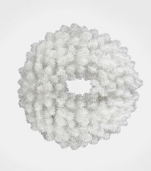 Handmade Holiday Christmas 24'' Wreath-White