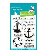 """Lawn Fawn Clear Stamps 3""""X4""""-Float My Boat, , hi-res"""