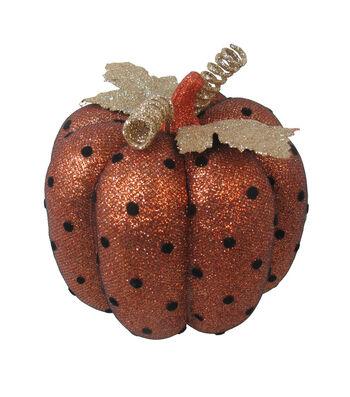 Maker's Halloween Small Mesh Pumpkin-Dots