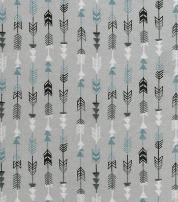 Nursery Flannel Fabric -Arrows