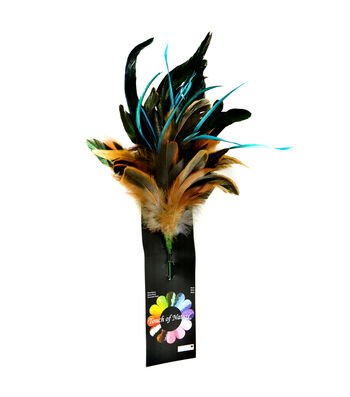 "Bloom Room 11"" Feather Floral Spray-Naturals"