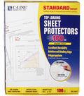 Top Loading Sheet Protectors 8.5\u0022X11\u0022 100 Pack-Clear