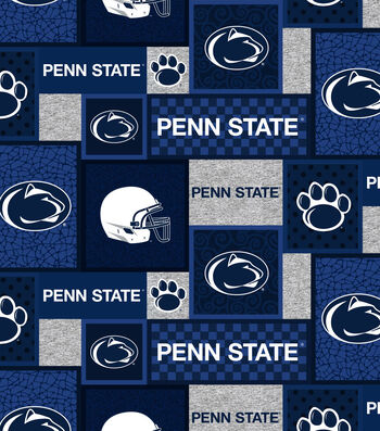 Penn State Nittany Lions Fleece Fabric-College Patch