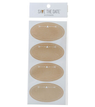 Save the Date 24ct Small Sticker Labels