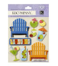 K&Company Beach 9 pk Dimensional Stickers-Chairs & Umbrella