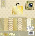 DCWV 12\u0022x12\u0022 Gilded Paper Stack