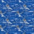 Detroit Lions Cotton Fabric-Retro