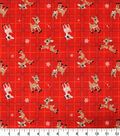 Christmas Rudolph the Red Nosed Reindeer Flannel Fabric-Plaid