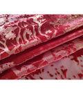 Metallic Velvet Burnout Fabric 54\u0022-Tango Red