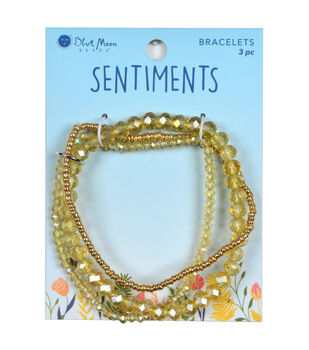 Blue Moon Beads Sentiments 3 pk Seed Bead Bracelets