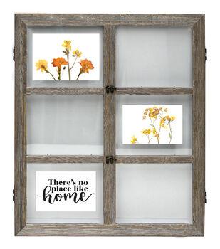 Wood 6 Openings Float Frame 25''x30''-Graywash