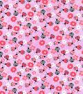 Novelty Cotton Fabric -Ladybugs On Pink