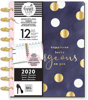 The Happy Planner Girl Deluxe Classic 2020 Planner-Glam Girl Gorgeous