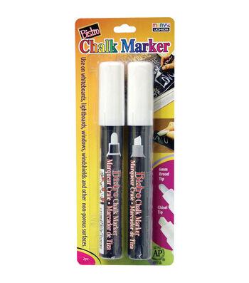 Marvy Uchida Bistro Chisel & Broad Tip Chalk Markers-White