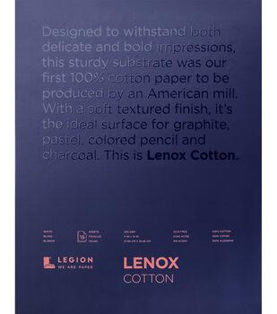 Legion Paper Lenox 15-sheet 11''x14'' 90 lb Cotton Paper Pad-White