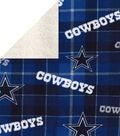 Dallas Cowboys Fleece Fabric-Plaid Sherpa