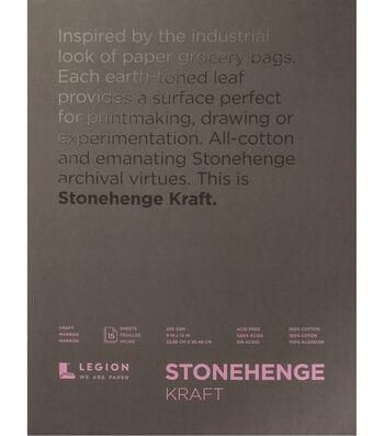 Legion Paper Stonehenge 15-sheet 9''x12'' 90 lb Paper Pad-Kraft