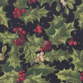 Christmas Cotton Fabric-Holly, Berries & Glitter Dots