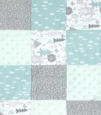 Nursery Quilt Patchwork Fabric-Woods