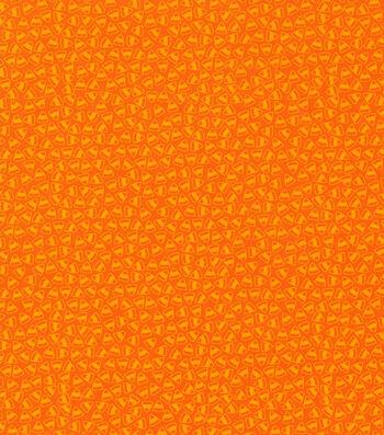 "Halloween Cotton Fabric 43""-Mini Candy Corn Orange"