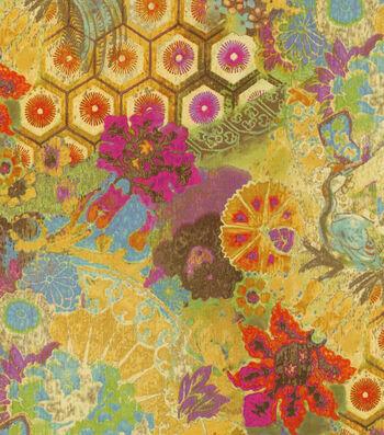"P/K Lifestyles Upholstery Fabric 54""-Windflower/Mulberry"