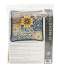Dimensions Patterns On Blue Stitched In Wool Needlepoint Kit