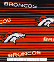 Denver Broncos Fleece Fabric -Linear, , hi-res