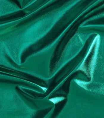 """Cosplay by Yaya Han 4-Way Metallic Fabric 59""""-Metallic Emerald"""