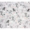 Super Snuggle Flannel Fabric-Cats & Hearts