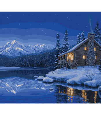 Plaid Creates Classic 16''x20'' Paint by Number Kit-Quiet Camp