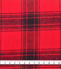 Plaiditudes Brushed Cotton Apparel Fabric -Red & Black Plaid