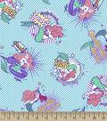 Disney Princess Flannel Fabric 42\u0022-Comic Ariel