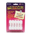 StikkiWorks Self-Stick Reusable Paper Holder, White, 30 Per Pack/6 packs