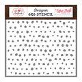 Echo Park Paper Co. I Heart Crafting 6\u0027\u0027x6\u0027\u0027 Designer Stencil-Paint Dots