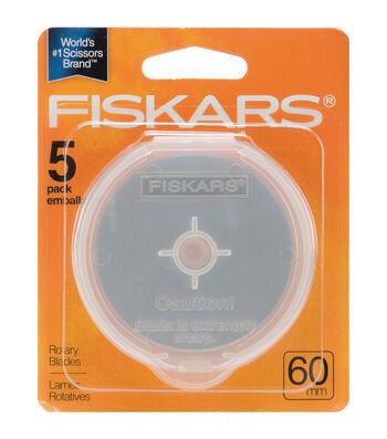 Fiskars 5pk Straight Rotary Blades 60mm