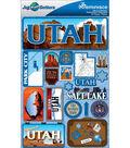 Jet Setters Dimensional Stickers-Utah