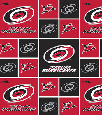 Carolina Hurricanes Cotton Fabric 43''-Block