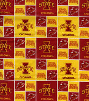 Iowa State University Cyclones Cotton Fabric 43''-Block, , hi-res