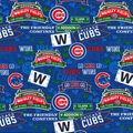 Chicago Cubs Cotton Fabric-Stadium