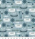 Snuggle Flannel Fabric-Lake Life Blue