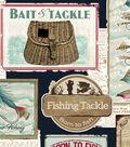 No Sew Fleece Throw 72\u0027\u0027-Fishing