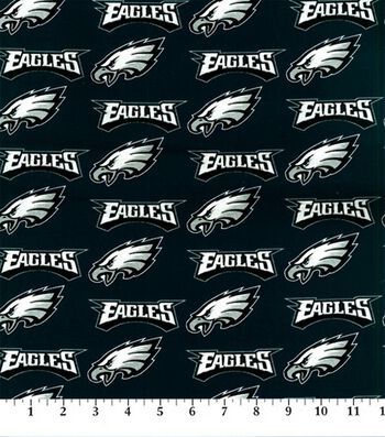 Philadelphia Eagles Cotton Fabric -Logo
