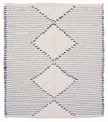 Indigo Mist 50''x60'' Woven Throw-Blue & Cream
