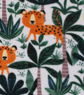 Anti-Pill Fleece Fabric -Jungle Animals