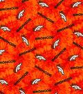 Denver Broncos Flannel Fabric 42\u0022-Tie Dye
