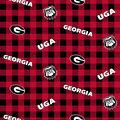 University of Georgia Bulldogs Cotton Fabric-Buffalo Plaid